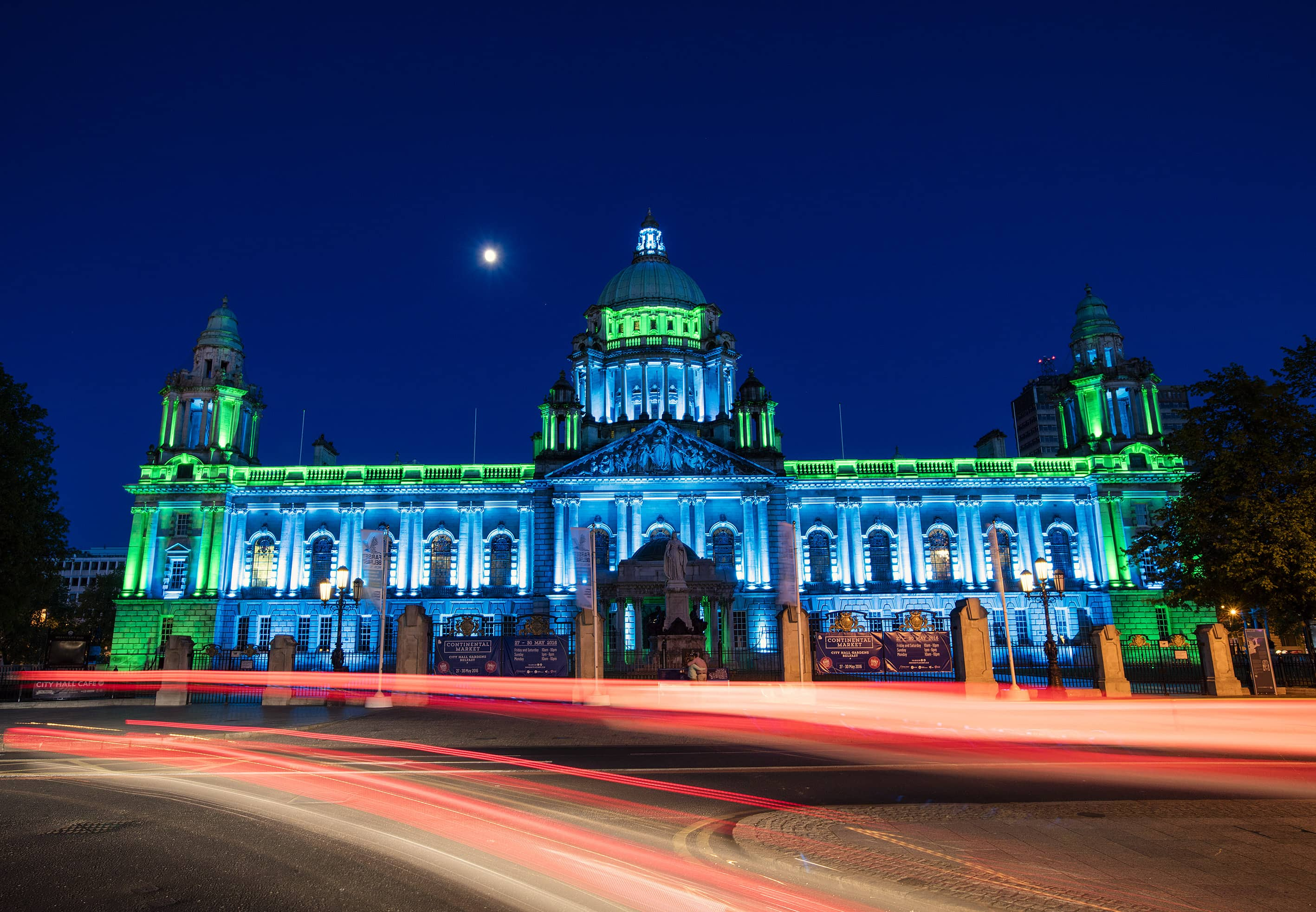 Belfast City Hall Lights Up Blue And Green For Dementia