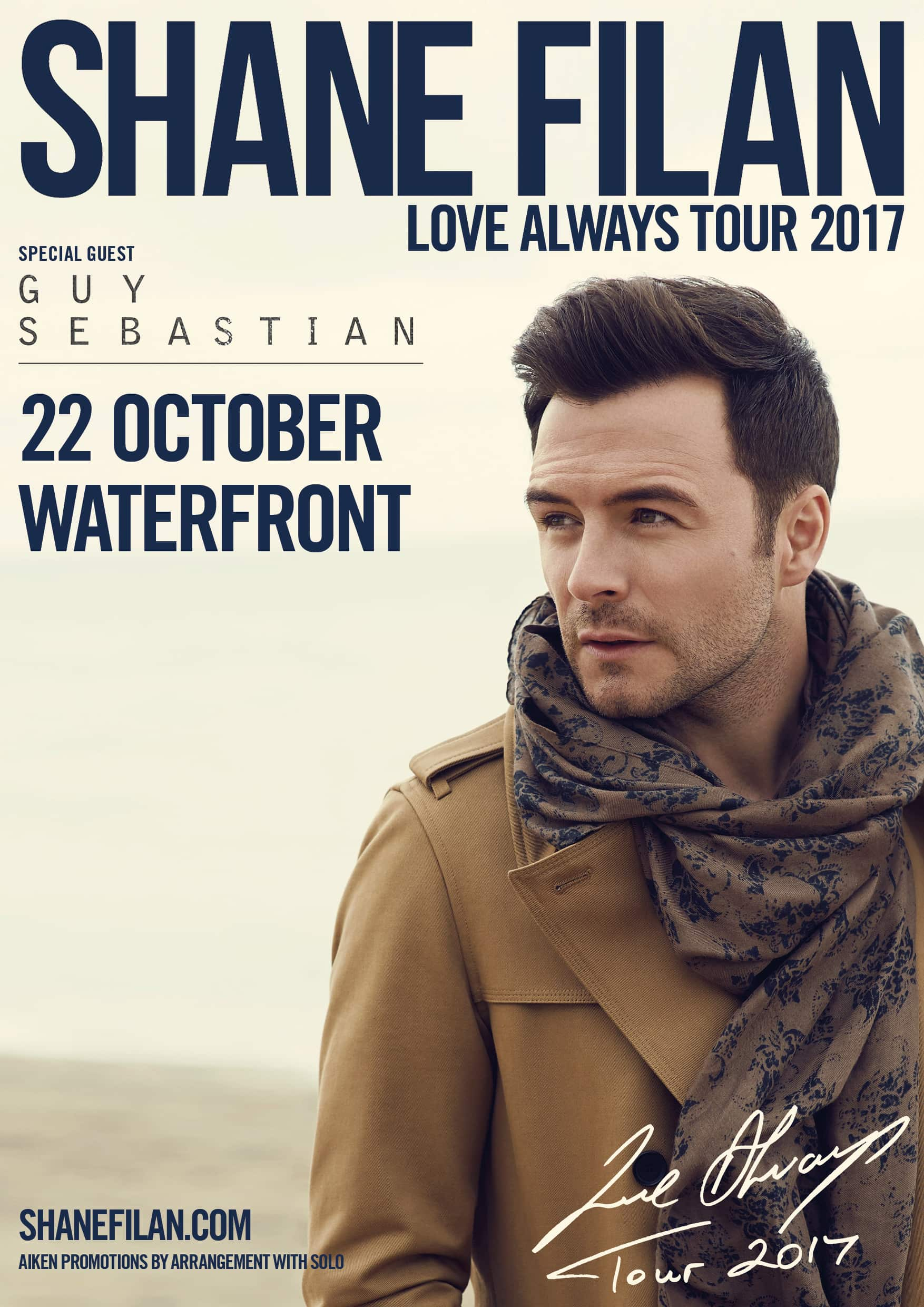 "SHANE FILAN ""LOVE ALWAYS"" TOUR - 22nd October 2017 - LoveBelfast"