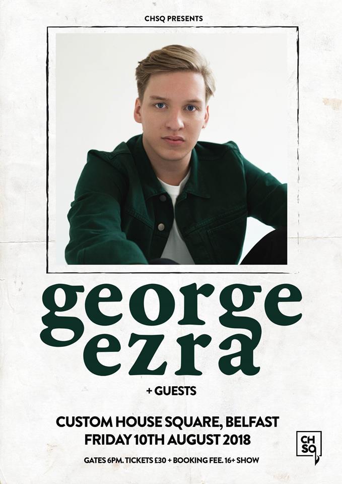 George Ezra Announces Belfast Show At Chsq Arena On 10