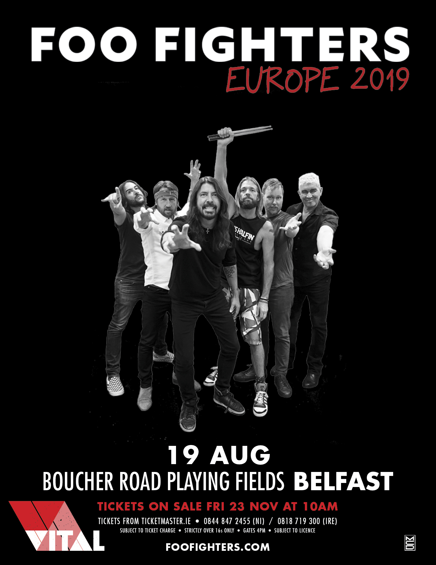 Foo Fighters Tour 2019 FOO FIGHTERS ANNOUNCED FOR BELFAST VITAL 2019   LoveBelfast